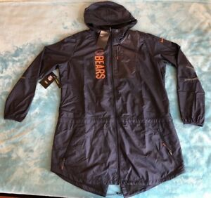 WOMEN'S NIKE NFL CHICAGO BEARS JACKET 848238-459 SIZE: XL BLUE/ORANGE NWT