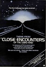 CLOSE ENCOUNTERS OF THIRD KIND 1978 UK Poster size Press ADVERT 16x12 inches