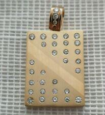 14k Solid Yellow Gold 1.20ctw Diamond Cluster Pendant 28.6g