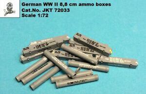 JKT 1/72 WWII German 8.8cm KwK Ammo Boxes