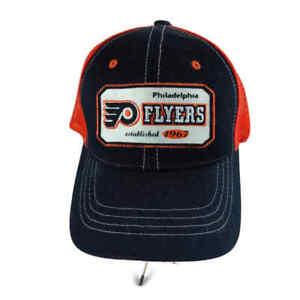 NHL Philadelphia Flyers Orange & Black Ball Cap Hat