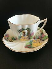 Victoria C&E Bone China Tea Cup and Saucer English Garden Victorian Lady