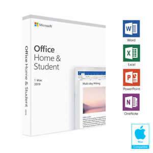 MICROSOFT OFFICE HOME AND STUDENT 2019 FULL LICENSE MAC ONLY