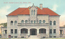 VIntage Postcard-Summit County Jail, Akron, OH