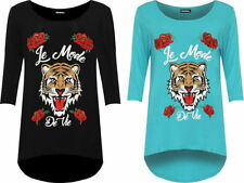 Short Sleeve Machine Washable Floral T-Shirts for Women