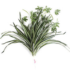 2 X Artificial Chlorophytum Spider Grass Leaf Plant Home Garden Decor M