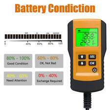 Digital 12V Automotive Car Battery Tester Load Test Analyzer 100~9999CCA US T1X8