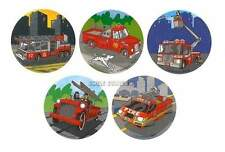 15 Fire Fighter Truck Man Stickers Kid Party Goody Loot Bag Favor Supply