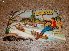 ALBUM ZAGOR SOLARIS 1978 ORIG. MB/OTT 1°EDIZ BLU COMPLETO(-7 FIG) TIPO TEX WEST