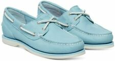 Timberland Women's Classic 2-Eye Amherst Boat Shoes, Light Blue Gluvy, 8.5 W US