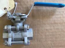 "316 Stainless steel Threaded ball valve 1000wog 1/2"""