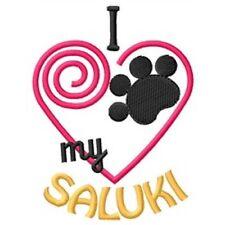 """I """"Heart"""" My Saluki Ladies Fleece Jacket 1328-2 Size S - Xxl"""