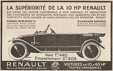 Y7419 Voitures RENAULT - Pubblicità d'epoca - 1921 Old advertising