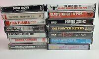 80s 90s R&B Soul Pop Cassette Tape Lot 14 Bobby Brown Tina Turner Lionel Richie
