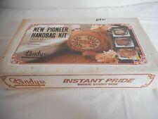 Vintage Tandy Leather Kit Pioneer Handbag No. 4370 appears complete