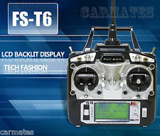 Flysky FS-T6 -RB6 2.4GHz 6 Channel Transmitter for FS RC Helicopter 6CH Radio OZ
