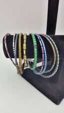 from Mali -  Set of 10 New - Handmade African Tuareg Bangle Braclets