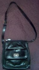 FOSSIL Crossbody Purse Black Leather w/buckle Adjustable strap