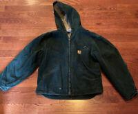 Carhartt Zip Front Sherpa Lined Jacket Coat Men's Size XL Regular Green J141 SPC