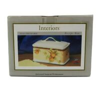 Interiors Old Orchard Stoneware Recipe Box Designed by PTS International
