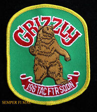 196TH TFS GRIZZLY HAT PATCH US AIR FORCE RESERVE MARCH AFB CA PIN UP AIR GUARD