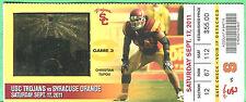 9/17/11 USC/SYRACUSE FOOTBALL FULL TICKET