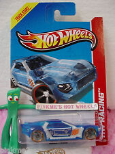 Case N 2013 i Hot Wheels BULLET PROOF #140∞Trans BLUE∞HW Racing∞X-Raycers