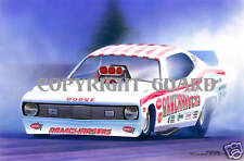 "73 ""RAMCHARGER'S"" Demon Drag Racing Art Print"