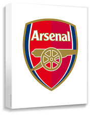 Arsenal Crest Canvas Wrap On White