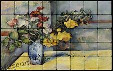 32x20 Cézanne Still Life Flower Art Tile Mural for Ktichen, Restaurant Decor