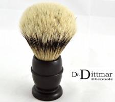 Dr.Dittmar Germany Rasierpinsel PREMIUM Silberspitz Dachshaar GROß 25mm EBENHOLZ