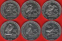 "Burundi set of 6 coins: 5 francs 2014 ""Birds"" UNC"