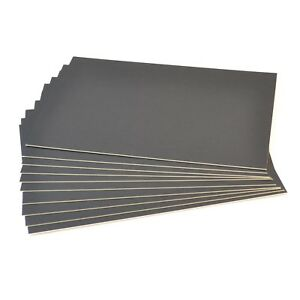GraphicPro A1  Black Mount Board pH Neutral Mount Backing Card Pack Of 10
