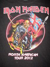 IRON MAIDEN CONCERT T SHIRT Maiden England North American Tour 2012 Eddie SMALL