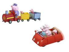 Peppa Pig Peppa's Grandpa Train & Push Car Bundle Playset Toy Age 3+