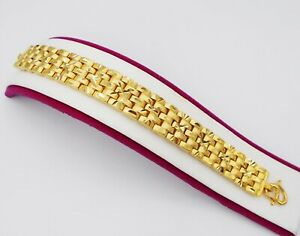 "Men's Classic Link 22K 23K 24K Thai Yellow Gold Plated  Bracelet 7.5"" Jewelry"