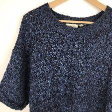 Derek Heart Blue Crop High Low Sweater Size Medium