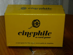 CINEPHILE card game for Film Nerds and Movie Geeks NEW SEALED
