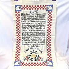 """100% Linen NEW HAMPSHIRE Kitchen Towel 16"""" X 26"""" Can Be Hung To Display"""