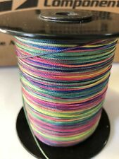 BARBOUR VARIEGATED MULTI-COLOR RAINBOW POLYESTER BRAID 25/16 THREAD BRAND NEW!