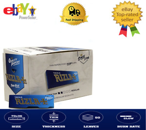 Rizla Blue Thin Rolling Papers Are Chlorine Free Cigarette  Size 100 x Booklets