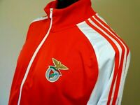 Benfica SLB  Adidas Training Track Top Jacket Soccer Football Red White NWT