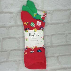 Happy Socks Christmas Mens UK 7.5- 11.5 EU 41-46 3 PACK Cotton
