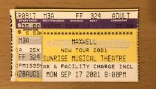 2001 Maxwell Now Tour / Alicia Keys Sunrise Florida Concert Ticket Stub 324
