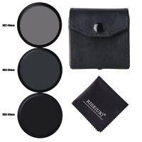 3pcs/lot 49mm Neutral Density ND2/ND4/ND8 lens Filter Kit set ND+2+4+8 with case