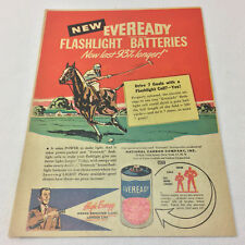 1947 Eveready Batteries illustrated ad page ~ POLO
