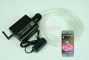 DIY star fiber optic light kit smart phone app control RGB led light box+fibers