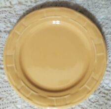 """Longaberger Woven Traditions Pottery 10"""" Dinner Plate~Butternut (Yellow)"""