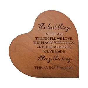 Personalized Heart Block Wooden Home Decor 5x5.25 (The Best Things In Life)