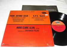 "Marie-Claire Alain/ Paillard ""Soler:Organ Quintet 6; Bach: Concerto"" 1974 LP,VG+"